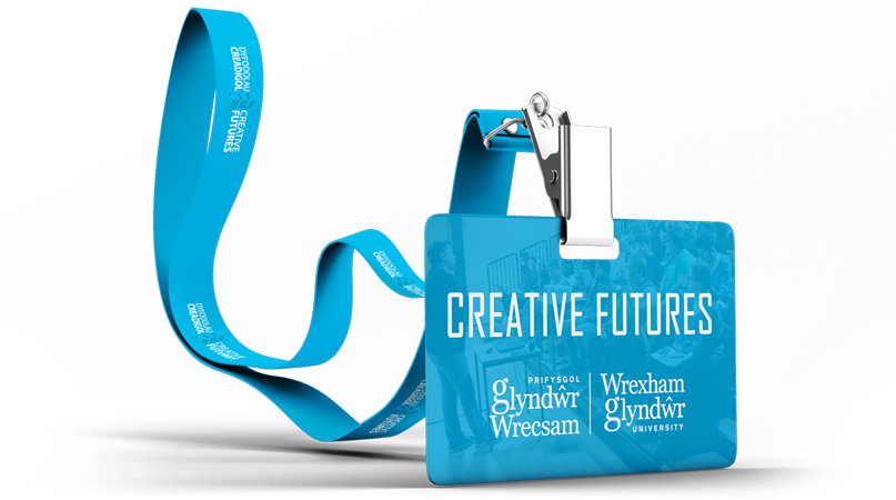 Creative Futures lanyard